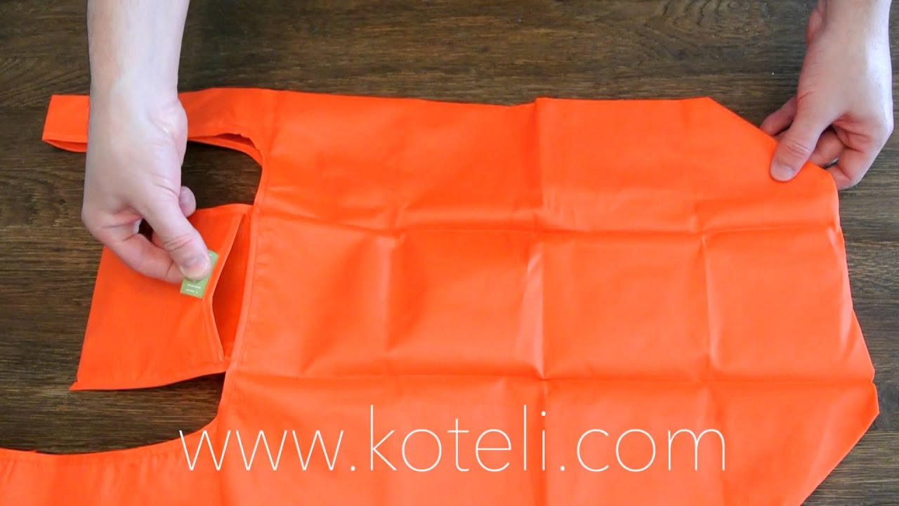 folding the koteli bag reusable shopping bag youtube