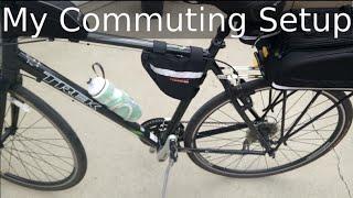 My Trek FX commuting bicycle setup