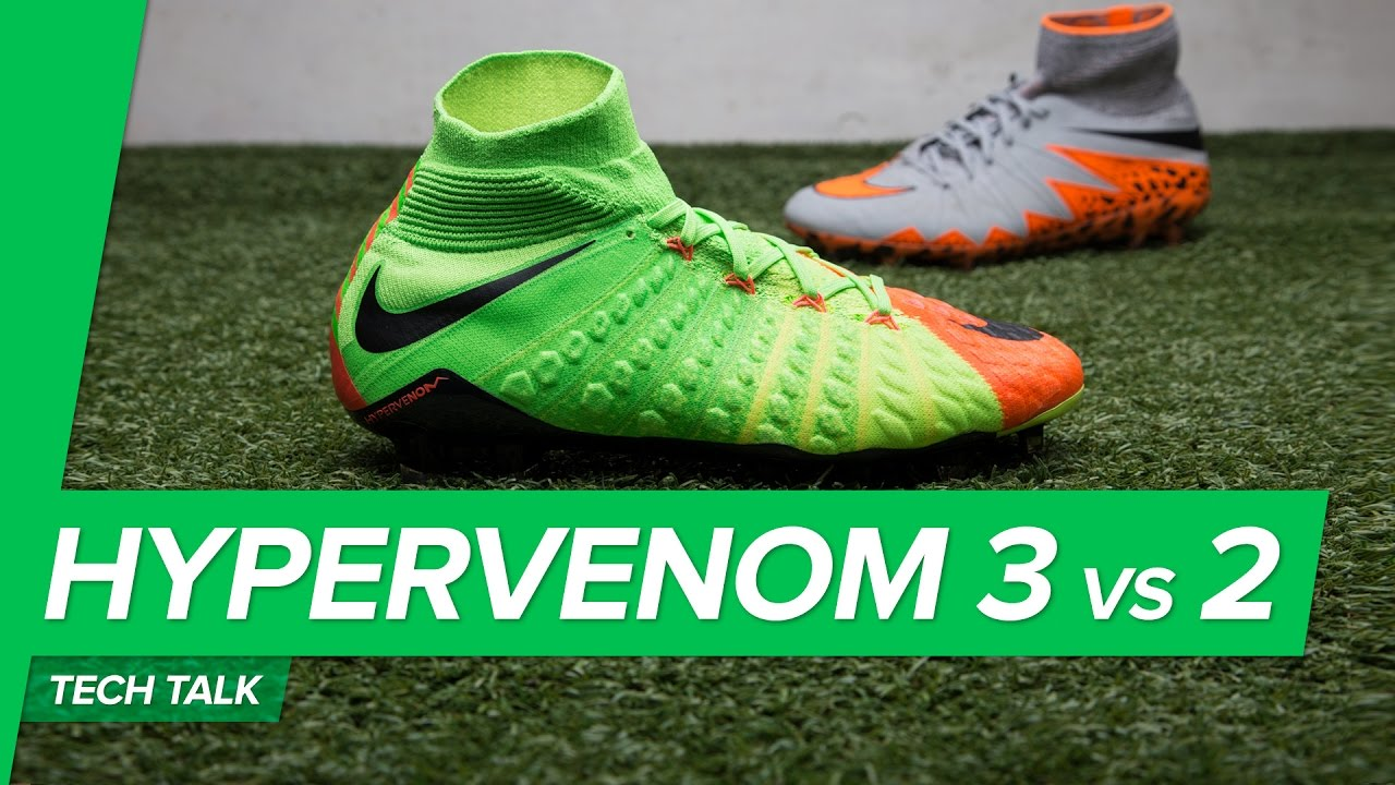 e1840439dbb9 Nike Hypervenom 3 vs Hypervenom 2 Tech Talk - all new Flyknit Hypervenom  Phantom 3!