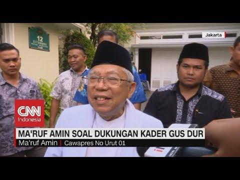 Tanggapan Ma'ruf Amin & Sandiaga Uno Soal Dukungan Kader Gus Dur Mp3