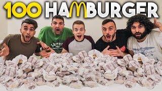 🍔 100 HAMBURGER CHALLENGE! (Mc Donald's) w/Fius Gamer, Ohm e Tatino