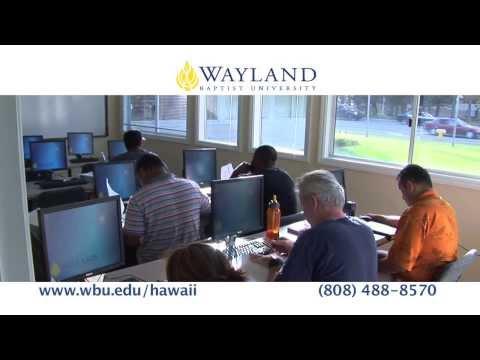 Wayland Baptist University-Hawaii commercial