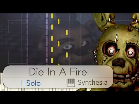 Die in a Fire - The Living Tombstone - |SOLO PIANO TUTORIAL w/LYRICS| -- Synthesia HD