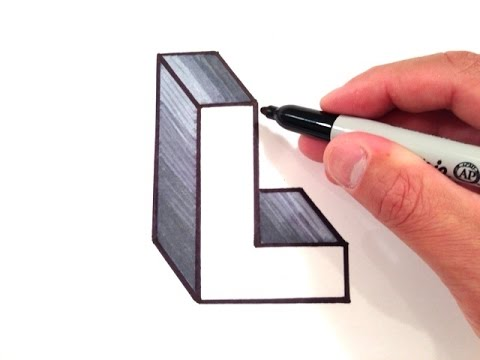 how to draw the letter l in 3d youtube. Black Bedroom Furniture Sets. Home Design Ideas