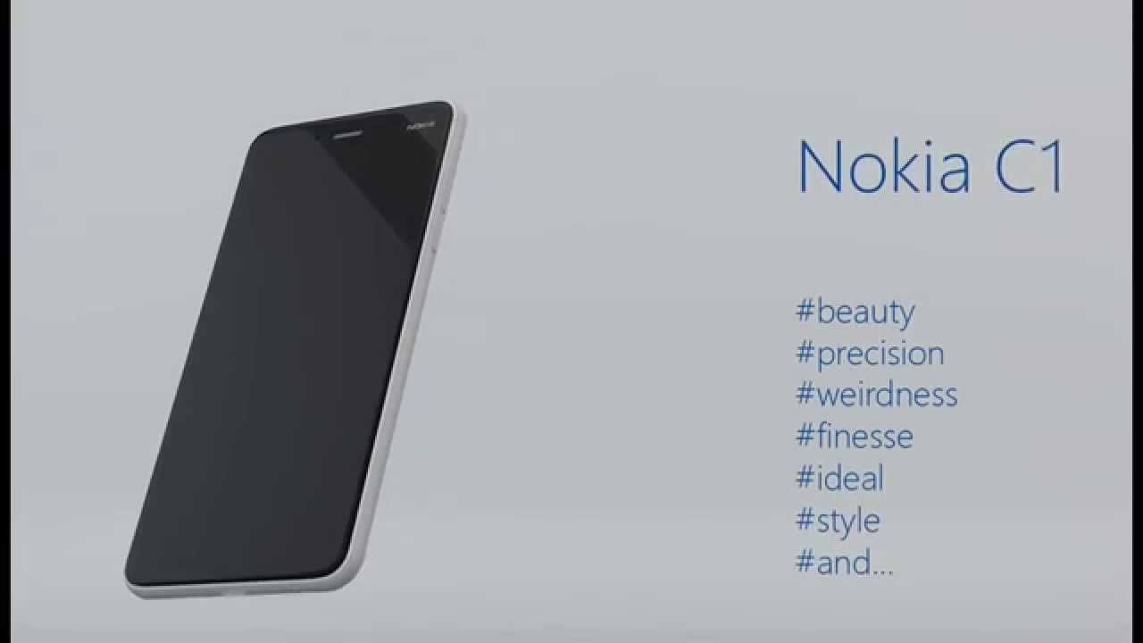 First Look of Nokia C1 Android - Launch in 2016
