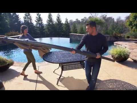 Proshade 11ft Cantilever Umbrella Canopy Replacement Video Youtube