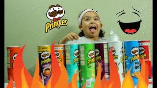 PRINGLES CHALLENGE 10 DIFFERENT FLAVORS