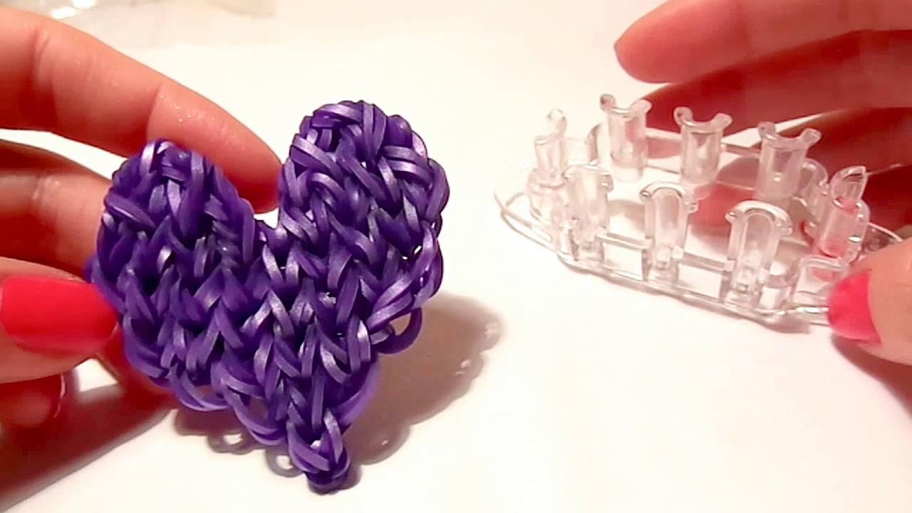 плетение из резинок сердце картинки поэтапно