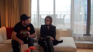 X Japan drummer and main song writer Yoshiki Hayashi being intervie...