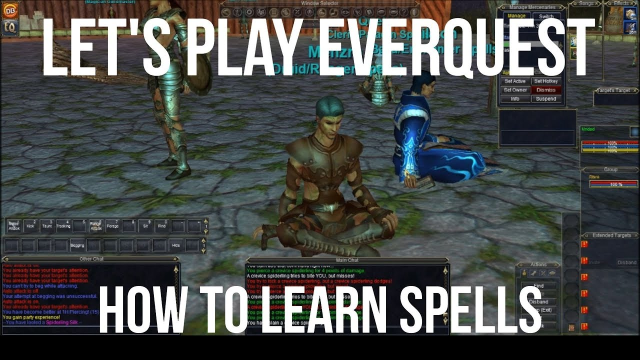 Let's Play: EverQuest! How to Learn Your Spells