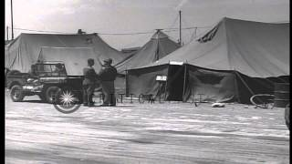 Planes and soldiers of United States Army Air Force at their base in the Japanese...HD Stock Footage