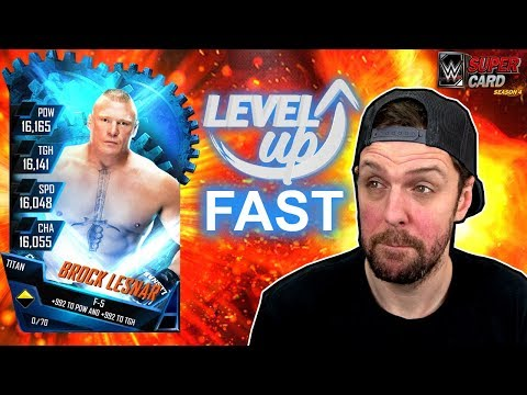 HOW TO LEVEL UP TO TITAN ++ FAST - WWE SuperCard Tips & Tricks