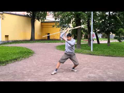 Меч против копья - постановочный бой