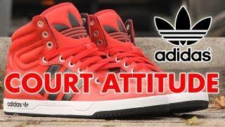 san francisco 1546a 84732 Adidas Court Attitude High Sneakers Rood  Sooco