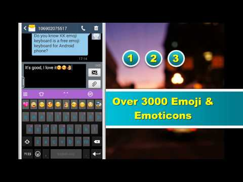 Emoji Keyboard On Galaxy S5 With Over 3000 IOS 9 Emoji, Emoticon, Smiley, Sticker And Animated GIFs