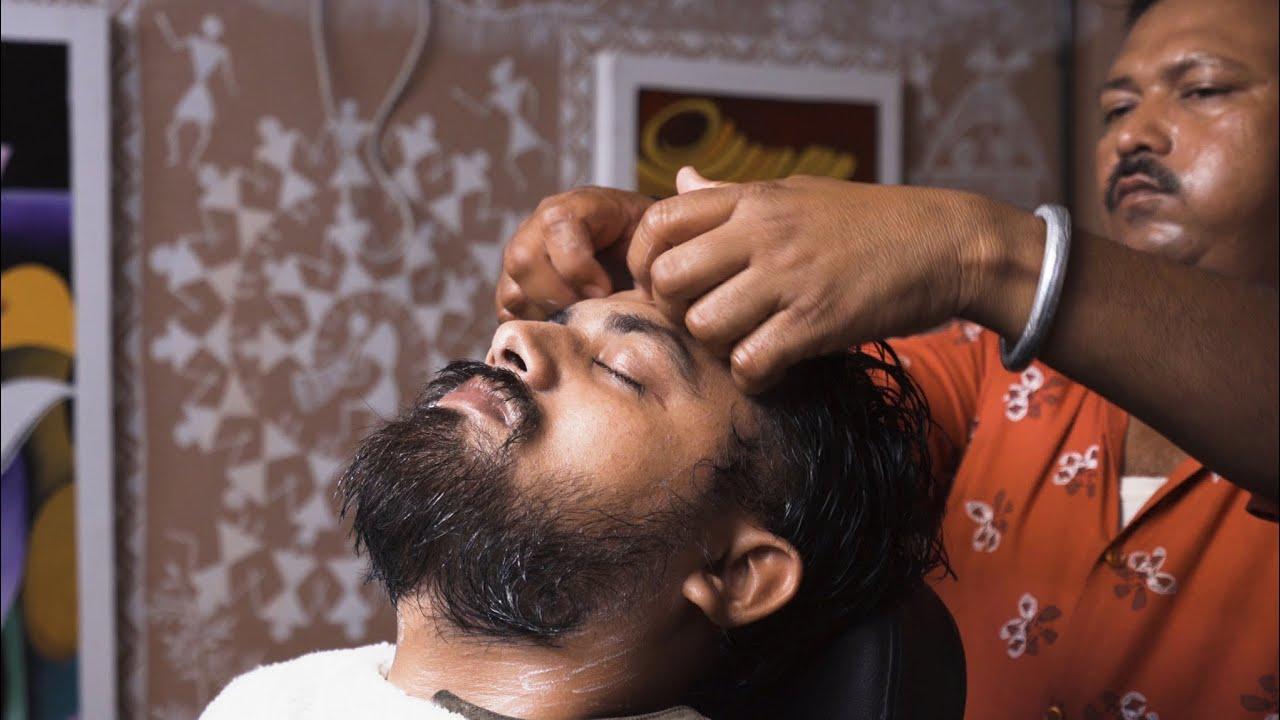 HEAD and FACE MASSAGE 🟣 NECK CRACK 🟣 ASMR sleep