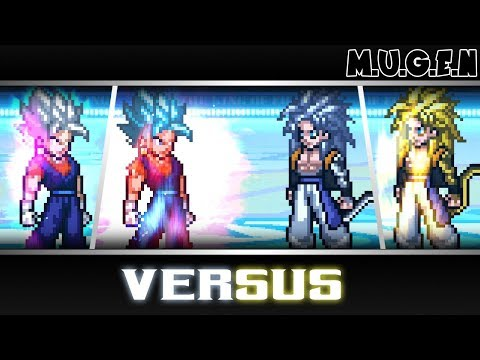 Vegetto All Forms VS Gogeta AF(SS4,SS5, SS6)