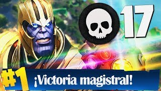 ¡EL REGRESO DE THANOS! *17 KILL* | FORTNITE: Battle Royale