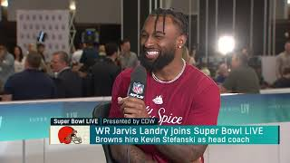 Joe Thomas and Andrew Hawkins interview wide receiver Jarvis Landry on 'Super Bowl Live'