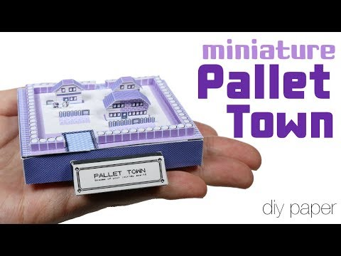 How to DIY Miniature Retro Pallet Town Paper Tutorial