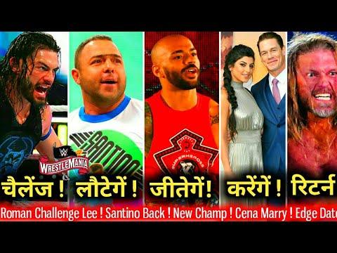 Roman Challenge Lee !? Edge Return Date ! Cena Marriage, Santino & JBL Back, Ricochet Wins WWE Title