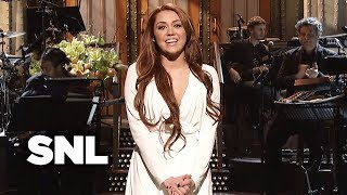 Monologue: Miley Cyrus is Sorry She's Not Perfect - SNL