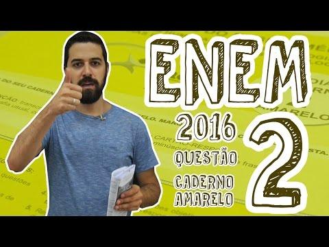 Enem: ENEM 2016 – Questão 2 (Caderno Amarelo) (ProUni)