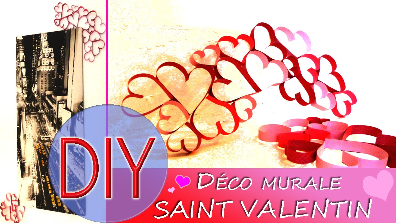 Diy d co coeur saint valentin hyper simple r aliser for Deco saint valentin
