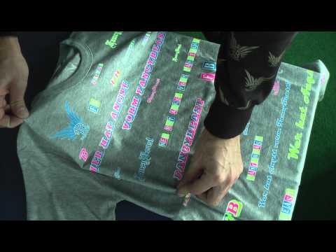 Hemden & T-Shirts Falten in 3 Sekunden schnell faltenfrei zusammen legen Japanisch Anleitung Trick