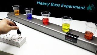 Heavy bass VS water in a cup - Blitzwolf Soundbar BW-SDB2