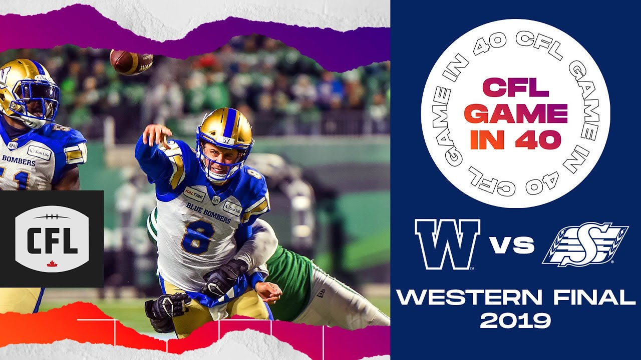 CFL Game in 40: Western Final 2019, Winnipeg @ Saskatchewan