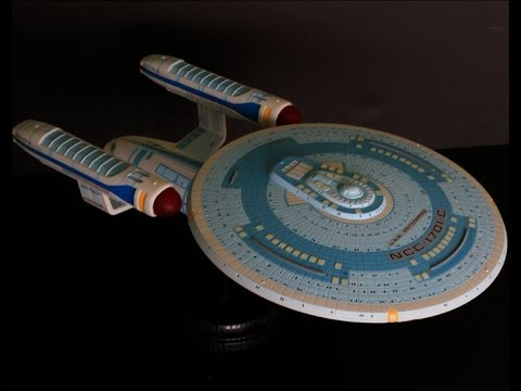 Completing the USS EnterpriseC 11400 scale AMT Kit  YouTube