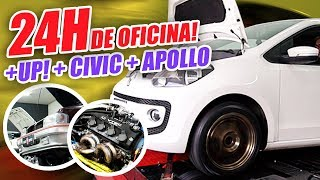 24 HORAS DENTRO DA OFICINA (Ft. Civic Coupe, Apollo, UP)