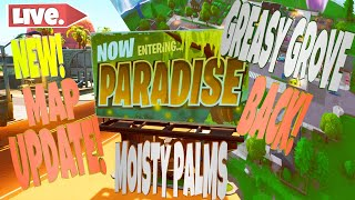 Fortnite NEW! MAP UPDATE! MOISTY PALMS GREASY GROVE USE CODE MEXICANDOM PC MOBILE XBOX PSN SWITCH