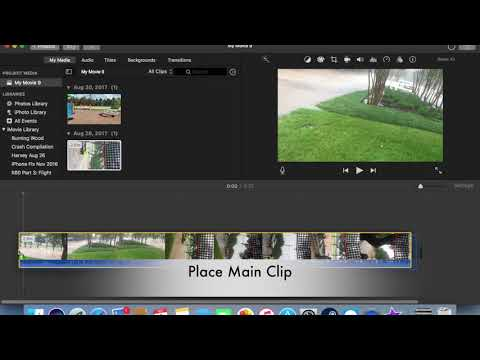 IMovie 10 - How To Do Split Screen And PIP