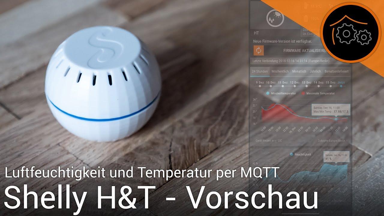 Wei/ß Shelly H/&T Temperatur und Feuchte Sensor