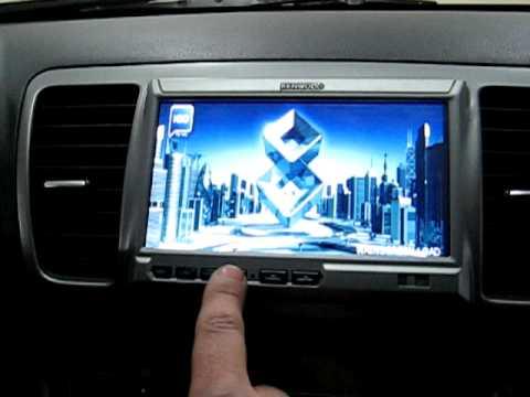 Subaru Legacy Navigation Kenwood KOS-V500 - YouTube