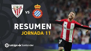 Resumen de Athletic Club vs RCD Espanyol (3-0)