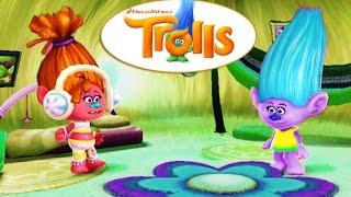 Играем в Тролли Диджэй Поп и Лена по мультфильму 2016. Занимательное видео для мальчиков и девочек