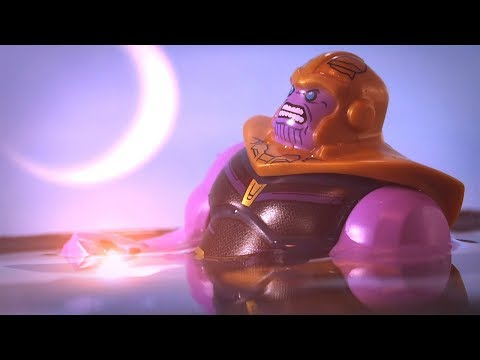 Avengers Infinity War Thanos gets soul stone scene Lego Stop Motion