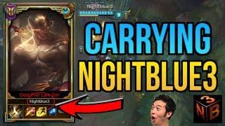 PROFESSOR AKALI CARRIES NIGHTBLUE3 FT. TYLER1, PINK WARD | League of Legends thumbnail