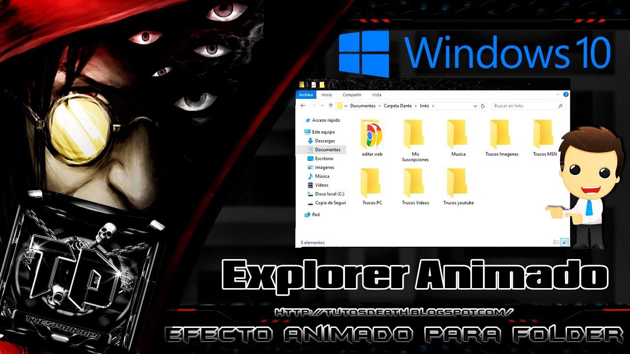 Efecto en las Carpetas de Windows 10 (Explorerframe Animado)