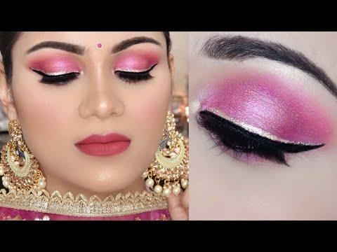 Indian FESTIVE Makeup Easy SMOKEY Eye Tutorial for Beginners मेकअप कैसे करें