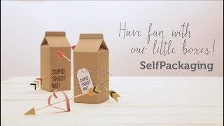 DIY decoración de regalos para el día de San Valentín - Selfpackaging tutorial