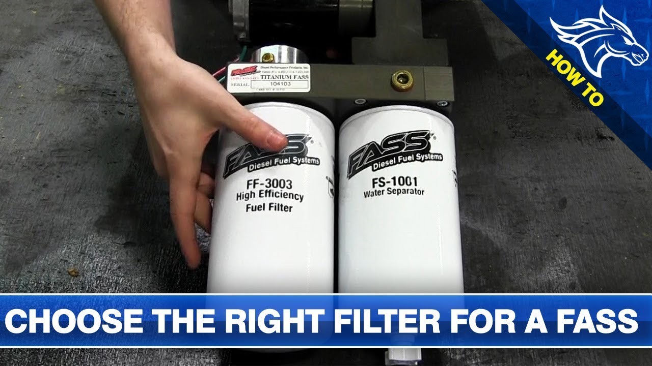 medium resolution of how to choose the right filter for a fass fuel system
