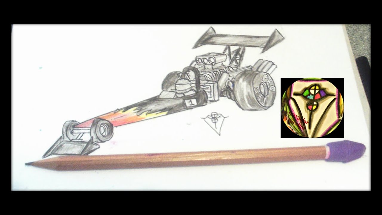 Real Time How To Draw A Simple Top Fuel Dragster