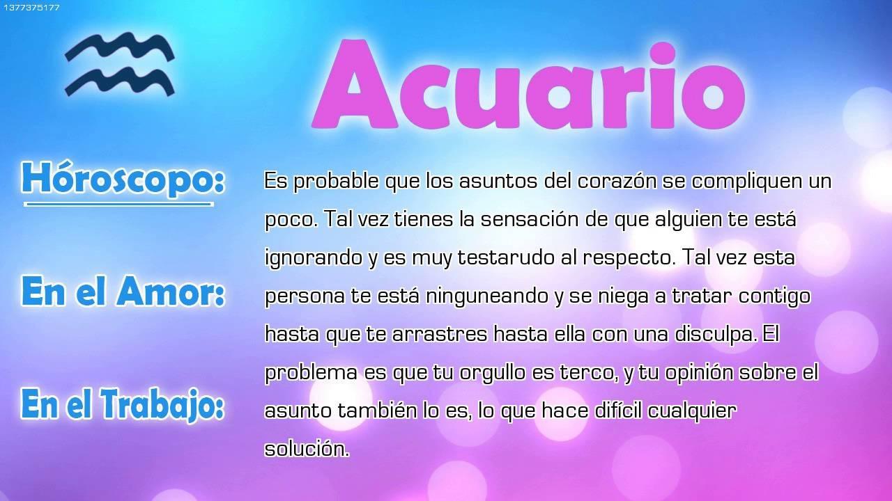 Hor scopo del d a acuario 16 08 2016 youtube for Horoscopo para acuario