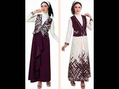 Model Baju Dress Muslim Kombinasi Brokat Terbaru