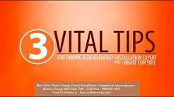 Best Solar Power (Energy Panels) Installation Company in Hull Massachusetts MA