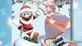 Mario Kart Tour『マリオカートツアー』First Look at Winter Tour with Santa Mario & Pink Gold Peach in 200cc
